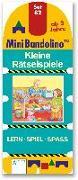 Cover-Bild zu Mini Bandolino / Kleine Rätselspiele von Morton, Christine