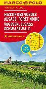 Cover-Bild zu MARCO POLO Karte Frankreich Vogesen, Elsass, Schwarzwald 1:200 000. 1:200'000