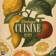 Cover-Bild zu Vintage Cuisine Kalender 2021 - 30x30 von Ackermann Kunstverlag (Hrsg.)