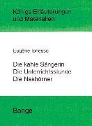Cover-Bild zu Ionesco, Eugene: Die kahle Sängerin, Die Unterichtsstunde und Die Nashörner. Textanalyse und Interpretation (eBook)