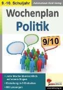 Cover-Bild zu Wochenplan Politik / Klasse 9-10