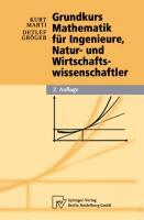 Cover-Bild zu Gröger, Detlef: Grundkurs Mathematik für Ingenieure, Natur- und Wirtschaftswissenschaftler