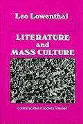 Cover-Bild zu Lowenthal, Leo: Literature and Mass Culture
