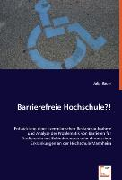 Cover-Bild zu Barrierefreie Hochschule?! von Bauer, Julia