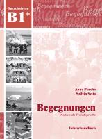 Cover-Bild zu Begegnungen B1+. Lehrerhandbuch von Buscha, Anne