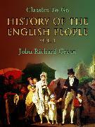 Cover-Bild zu Green, John Richard: History of the English People, Vol. 1 (eBook)