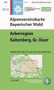 Cover-Bild zu Alpenvereinskarte Bayerischer Wald, Arberregion, Kaitersberg, Osser 1:25 000. 1:25'000