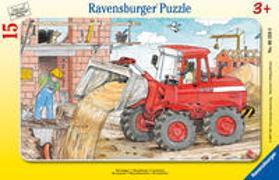 Ravensburger Kinderpuzzle - 06359 Mein Bagger - Rahmenpuzzle für Kinder ab 3 Jahren, mit 15 Teilen