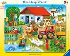 Ravensburger Kinderpuzzle - 06020 Was gehört wohin? - Rahmenpuzzle für Kinder ab 3 Jahren, mit 15 Teilen