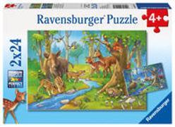 Ravensburger Kinderpuzzle - 09117 Tiere des Waldes - Puzzle für Kinder ab 4 Jahren, mit 2x24 Teilen