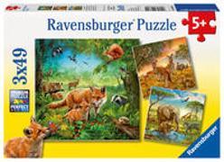 Ravensburger Kinderpuzzle - 09330 Tiere der Erde - Puzzle für Kinder ab 5 Jahren, mit 3x49 Teilen