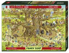 Monkey Habitat Puzzle von Degano, Marino