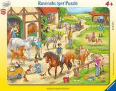 Ravensburger Kinderpuzzle - 06164 Auf dem Pferdehof - Rahmenpuzzle für Kinder ab 4 Jahren, mit 40 Teilen