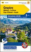 Cover-Bild zu Hallwag Kümmerly+Frey AG (Hrsg.): Gruyère Moléson-La Broye-Pays d'Enhaut-Leysin Wanderkarte Nr. 16. 1:60'000
