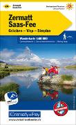 Cover-Bild zu Hallwag Kümmerly+Frey AG (Hrsg.): Zermatt - Saas Fee Nr. 24 Wanderkarte 1:60 000. 1:60'000