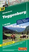 Cover-Bild zu Hallwag Kümmerly+Frey AG (Hrsg.): Toggenburg Wanderkarte Nr. 38, 1:50 000. 1:50'000