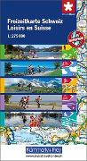 Cover-Bild zu Hallwag Kümmerly+Frey AG (Hrsg.): Freizeitkarte Schweiz 1:275 000. 1:275'000