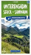 Cover-Bild zu Hallwag Kümmerly+Frey AG (Hrsg.): Unterengadin - Scuol - Samnaun Nr. 24 Wanderkarte 1:40 000. 1:40'000