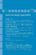 Cover-Bild zu Bermes, Christian (Hrsg.): Archiv für Begriffsgeschichte / Archiv für Begriffsgeschichte. Band 49 (eBook)