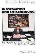 Cover-Bild zu Hirscher, Gerhard (Hrsg.): Information und Entscheidung (eBook)