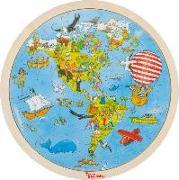 Cover-Bild zu Einlegepuzzle Peggy auf Weltreise
