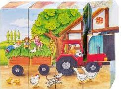 Cover-Bild zu Würfelpuzzle Jahreszeiten Bauernhof