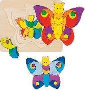Cover-Bild zu Schichtenpuzzle Schmetterling
