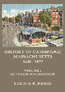 Cover-Bild zu Paige, Lucius R.: History of Cambridge, Massachusetts, 1630-1877, Volume 2 (eBook)