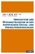 Cover-Bild zu Kreyenfeld, Michaela (Hrsg.): Innovation und Wissenstransfer in der empirischen Sozial- und Verhaltensforschung (eBook)
