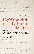 Cover-Bild zu Hofmannsthal und die Kunst des Lesens (eBook) von Rispoli, Marco