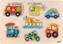 Cover-Bild zu Steckpuzzle Verkehrsmittel