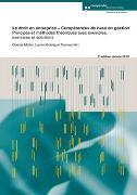 Cover-Bild zu Gehrig, Lucien: Le droit en entreprise - Compétences de base en gestion