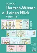 Cover-Bild zu Boretzki, Anja (Illustr.): Merk-Poster: Deutsch-Wissen auf einen Blick - Klasse 1/2