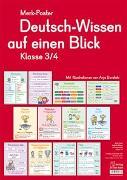 Cover-Bild zu Boretzki, Anja (Illustr.): Merk-Poster: Deutsch-Wissen auf einen Blick - Klasse 3/4