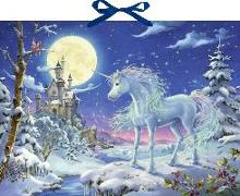 Cover-Bild zu Simon, Ute (Illustr.): Wandkalender - Einhorn im Zauberwald