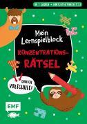 Cover-Bild zu Thißen, Sandy (Illustr.): Endlich Vorschule! Mein Lernspielblock - Konzentrationsrätsel