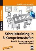 Cover-Bild zu Schreibtraining in 3 Kompetenzstufen - Band 1 (eBook) von Penzenstadler, Brigitte
