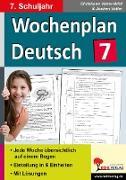 Cover-Bild zu Wochenplan Deutsch / Klasse 7 (eBook) von Vatter-Wittl, Christiane
