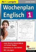 Cover-Bild zu Wochenplan Englisch 1 (eBook) von Vatter, Jochen