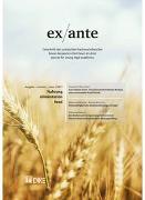 Cover-Bild zu Bernet, Stephanie (Hrsg.): ex ante 02/2017 Nahrung