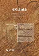 Cover-Bild zu Bernet, Stephanie (Hrsg.): ex ante 01/2018 Alter