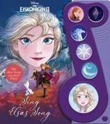 """Cover-Bild zu Phoenix International Publications Germany GmbH (Hrsg.): Disney Die Eiskönigin 2 - Sing Elsas Song - Liederbuch zu """"Wo noch niemand war"""" -Interaktives Pappbilderbuch mit 6 Melodien für Kinder ab 3 Jahren"""