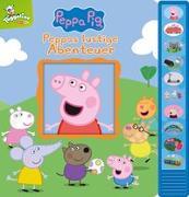 Cover-Bild zu Phoenix International Publications Germany GmbH (Hrsg.): Peppa Pig - Peppas lustige Abenteuer - Vorlese-Pappbilderbuch mit 10 fröhlichen Geräuschen