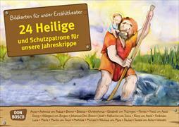 Cover-Bild zu 24 Heilige und Schutzpatrone für unsere Jahreskrippe. Kamishibai Bildkartenset von Groß, Martina
