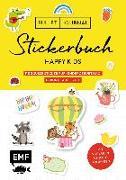 Cover-Bild zu Bullet Journal - Stickerbuch Happy Kids: 1100 süße Sticker für Kindergeburtstag, Geburt, Taufe & Co