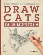 Cover-Bild zu Spicer, Jake: Draw Cats in 15 Minutes (eBook)