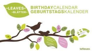 Cover-Bild zu teNeues Calendars & Stationery: Blätter immerwährender Geburtagskalender