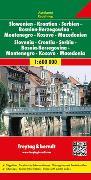 Cover-Bild zu Freytag-Berndt und Artaria KG (Hrsg.): Slowenien - Kroatien - Serbien - Bosnien Herzegowina - Montenegro - Mazedonien, Autokarte 1:600.000. 1:600'000