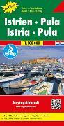 Cover-Bild zu Freytag-Berndt und Artaria KG (Hrsg.): Istrien - Pula, Autokarte 1:100.000, Top 10 Tips. 1:100'000
