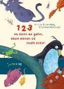 Cover-Bild zu 1, 2, 3, so kann es gehn, eben waren es noch zehn! von Schomburg, Andrea